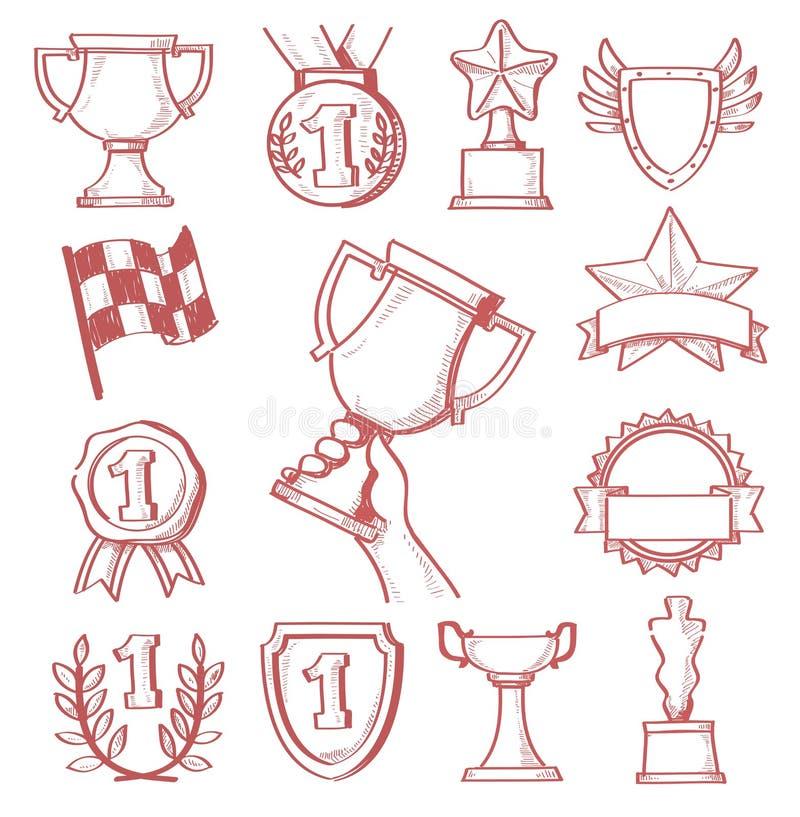 Trophée et récompenses illustration stock