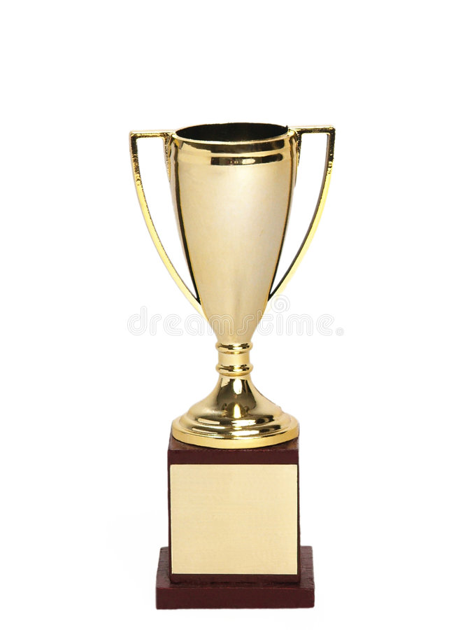Download Trophée miniature (blanc) photo stock. Image du vieux, curiosité - 74990