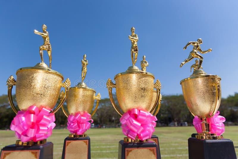 Trophées d'athlétisme photo libre de droits