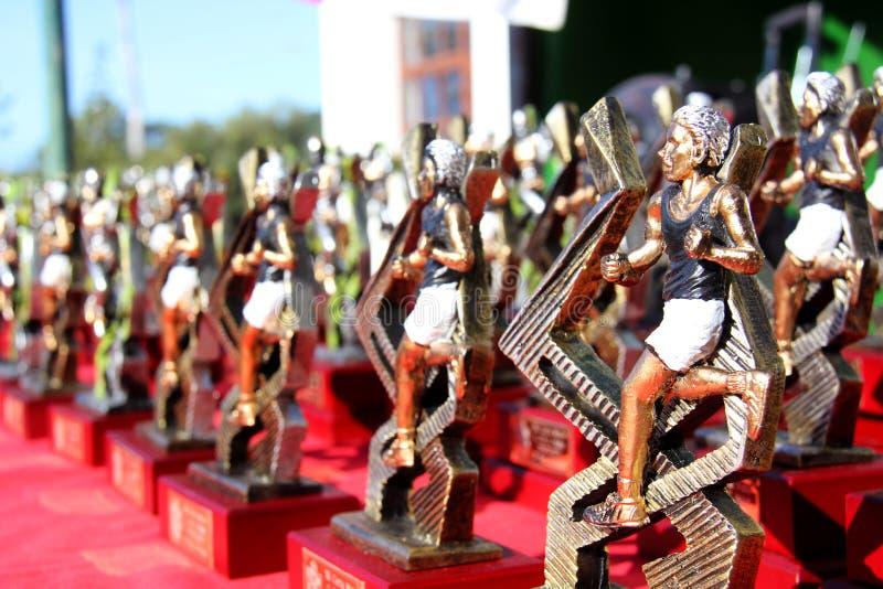 Tropheys de corrida foto de stock royalty free