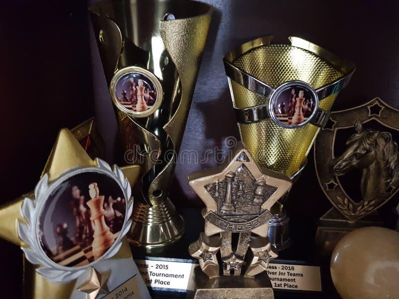 trophies fotos de stock
