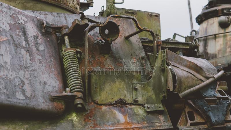 NTrophy American destroyed technology after the Vietnam War. National military museums of Vietnam war stock images
