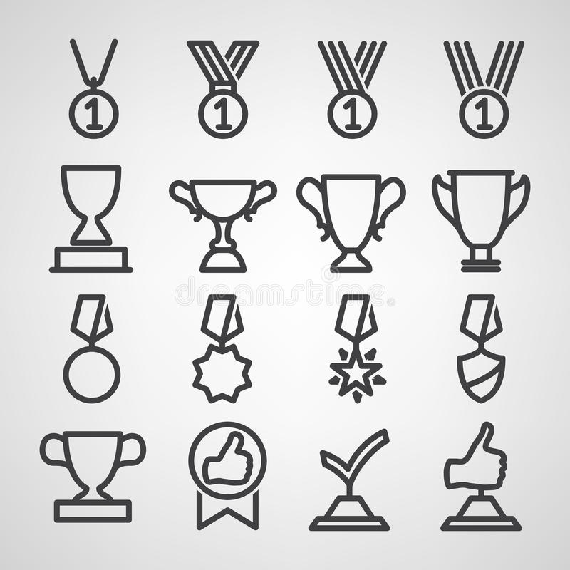 Free Trophy And Awards Icons Set Stock Photo - 37449610