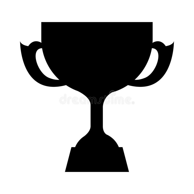 Trophy silhouette gold