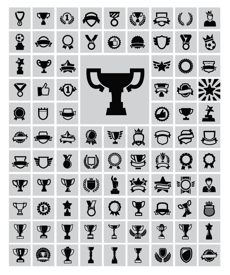 Trophy and awards stock illustration