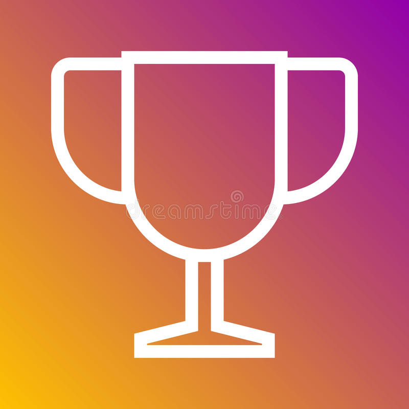 Trophy Best Champion Icon In Trendy Flat Style Isolated On Grey
