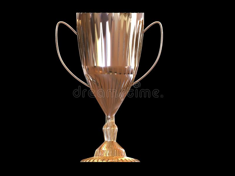 trophy on black background picture image 4954076