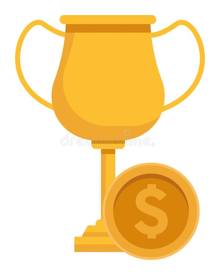 Trophy cup award icon cartoon vector illustration