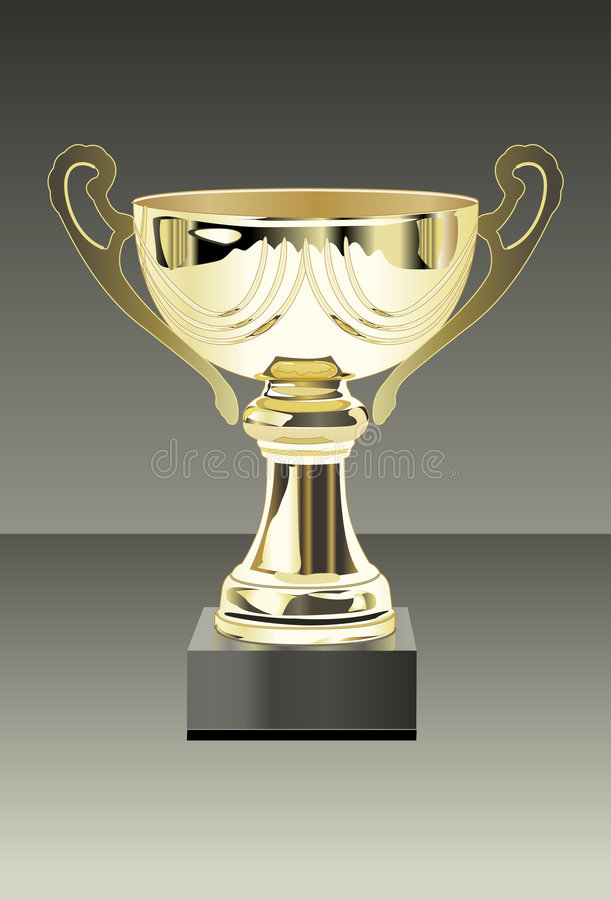 Trophy Cup Gold royalty free stock photography