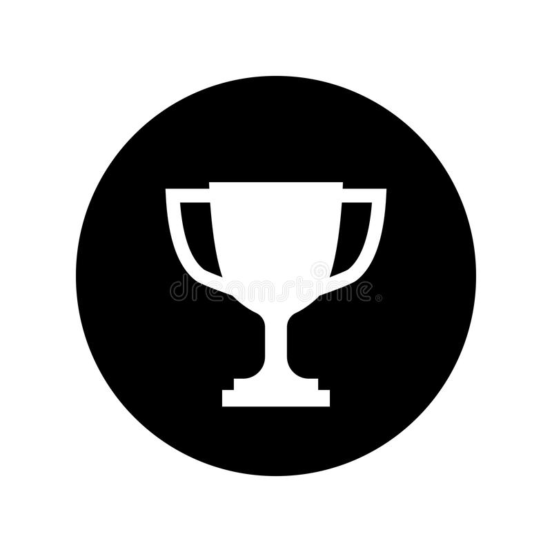 Download Trophy Cup Icon In Black Circle Simple Winner Stock Vector