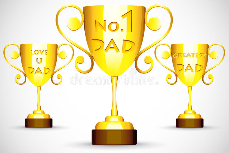 Trophy with Father's Day message royalty free illustration