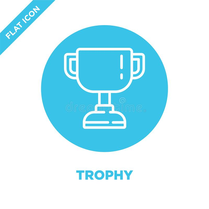 trophy icon vector. Thin line trophy outline icon vector illustration.trophy symbol for use on web and mobile apps, logo, print royalty free illustration