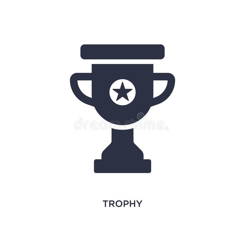 trophy icon on white background. Simple element illustration from strategy concept stock illustration