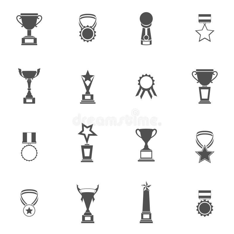Trophy Icons Set royalty free illustration