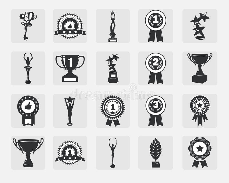 Trophy icons royalty free illustration