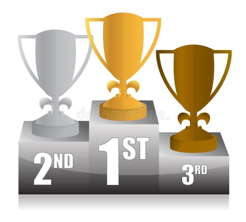 Download Trophy Podium Illustration Design Stock Illustration - Image: 27372674
