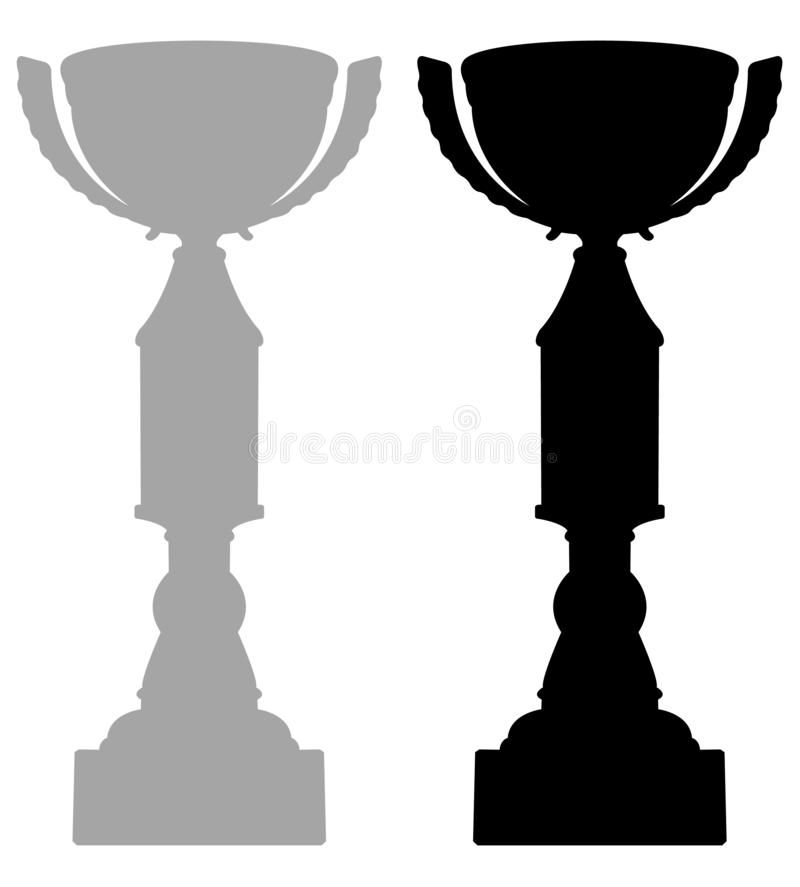 Trophy - tangible, durable reminder of a specific achievement, and serves as recognition or evidence of merit. Vector file of trophy - tangible, durable reminder royalty free illustration