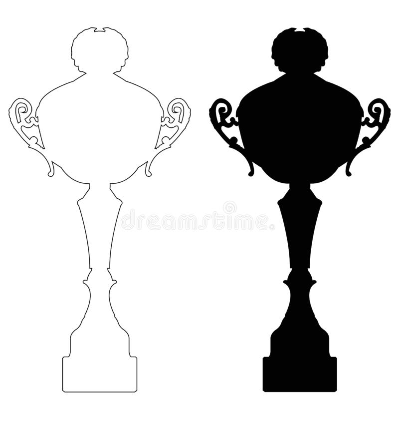 Trophy - tangible, durable reminder of a specific achievement, and serves as recognition or evidence of merit. Vector file of trophy - tangible, durable reminder stock illustration
