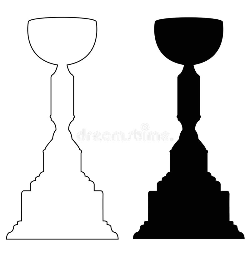 Trophy - tangible, durable reminder of a specific achievement, and serves as recognition or evidence of merit. Vector file of trophy - tangible, durable reminder vector illustration