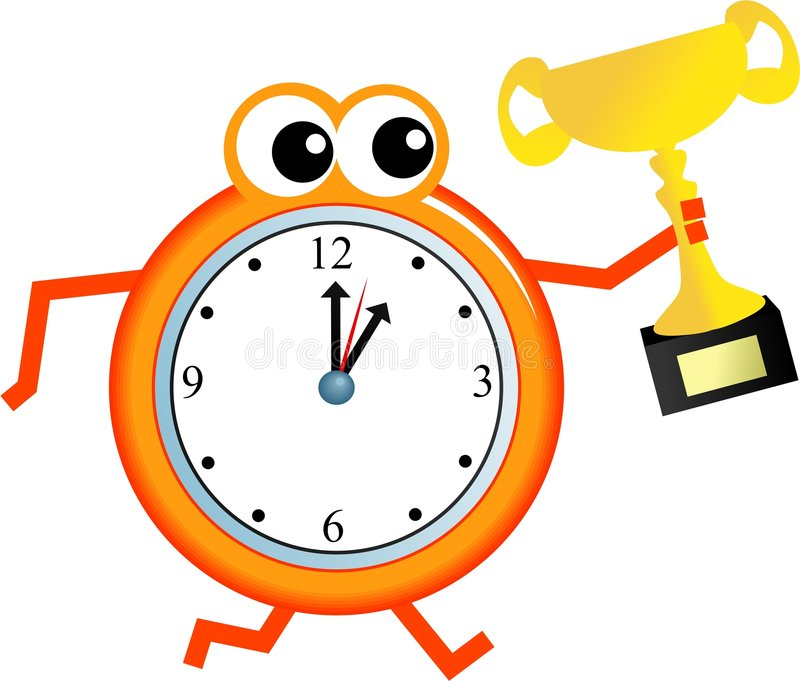 Download Trophy time stock illustration. Image of seconds, character - 7541667