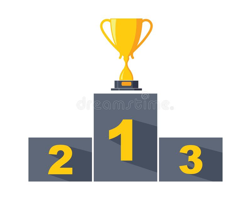 Trophy  vector icon winner illustration stock illustration