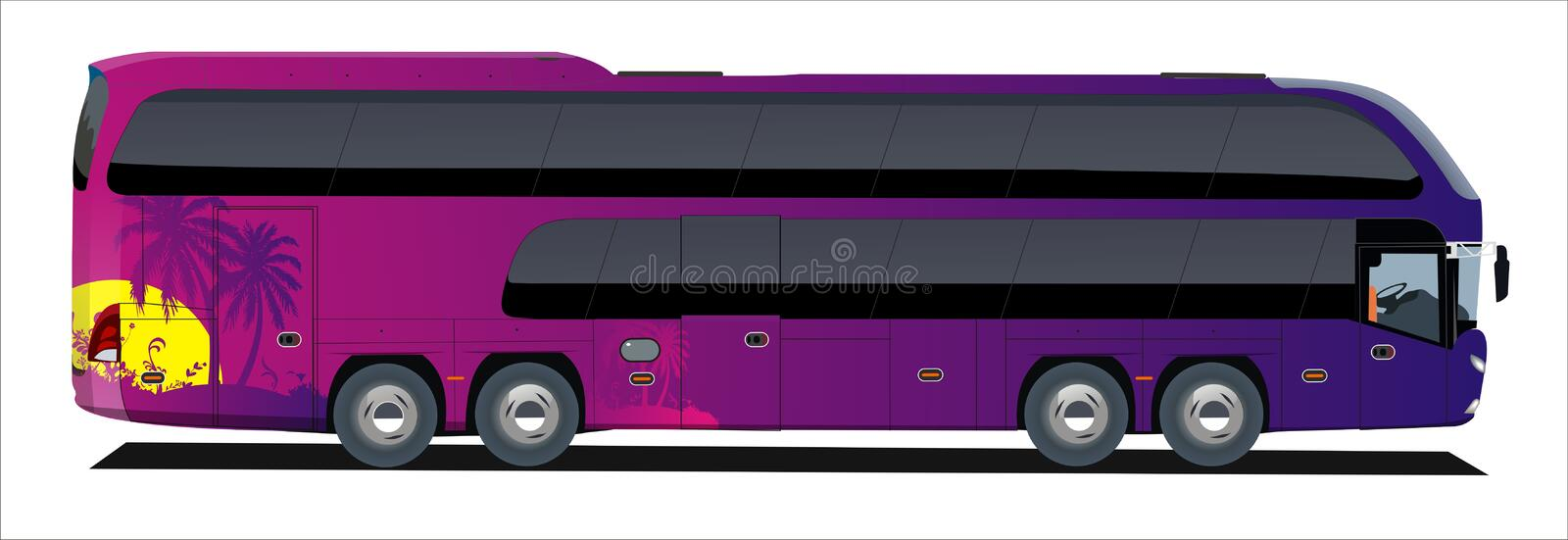 Download Tropic bus trip stock illustration. Illustration of automobile - 11851995