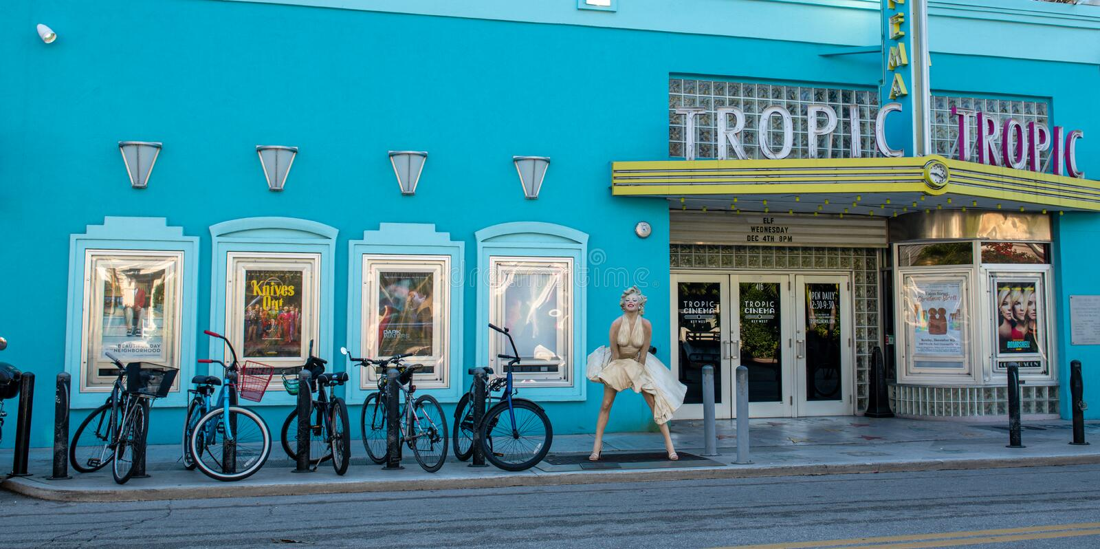 Tropic Cinema 416 Eaton St.Key West, FL 33040. Is a historic theater royalty free stock photography
