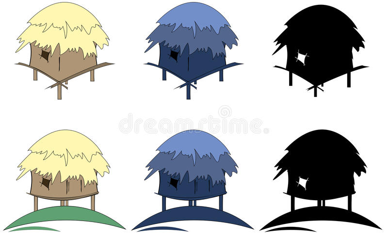 Download Tropic hut stock vector. Illustration of residential - 28802397