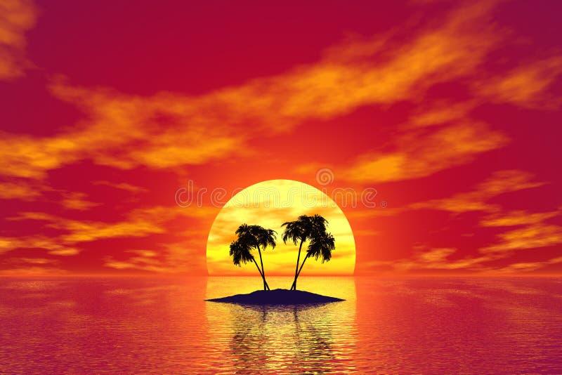 Tropic island vector illustration