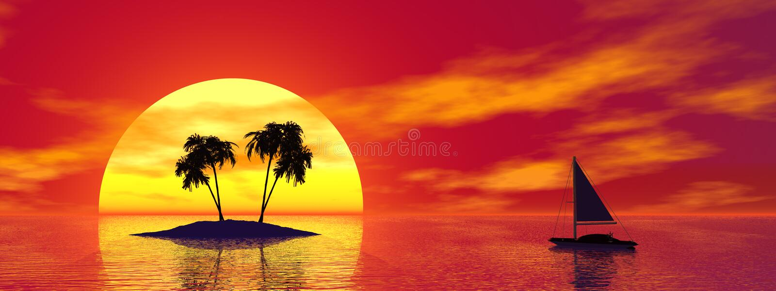 Tropic island royalty free stock image