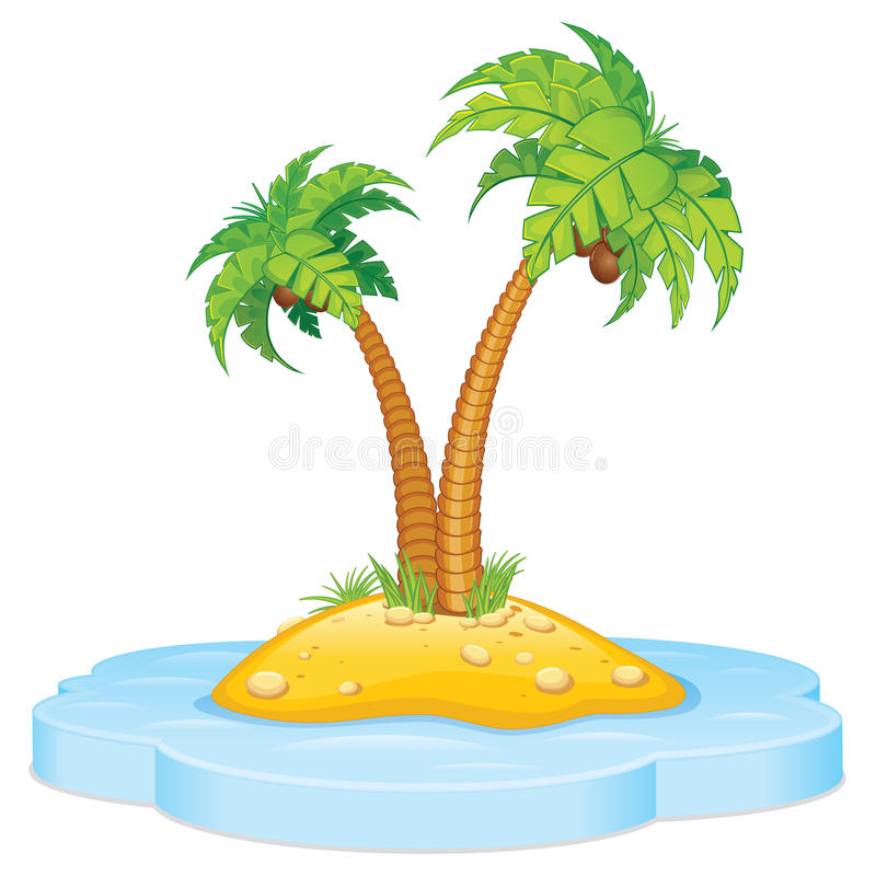 Download Tropic Island With Coconut Palm Stock Image - Image: 27520511