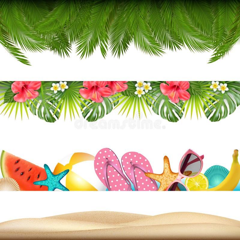 Free Tropic Summer Borders. Vector Stock Photo - 121755080