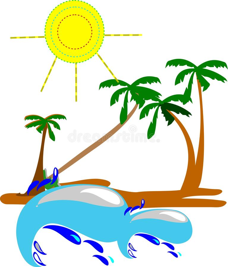 Download Tropical stock vector. Image of island, sand, miami, perfect - 21572017