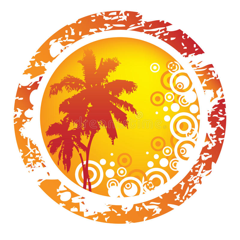 Tropical abstract background royalty free illustration