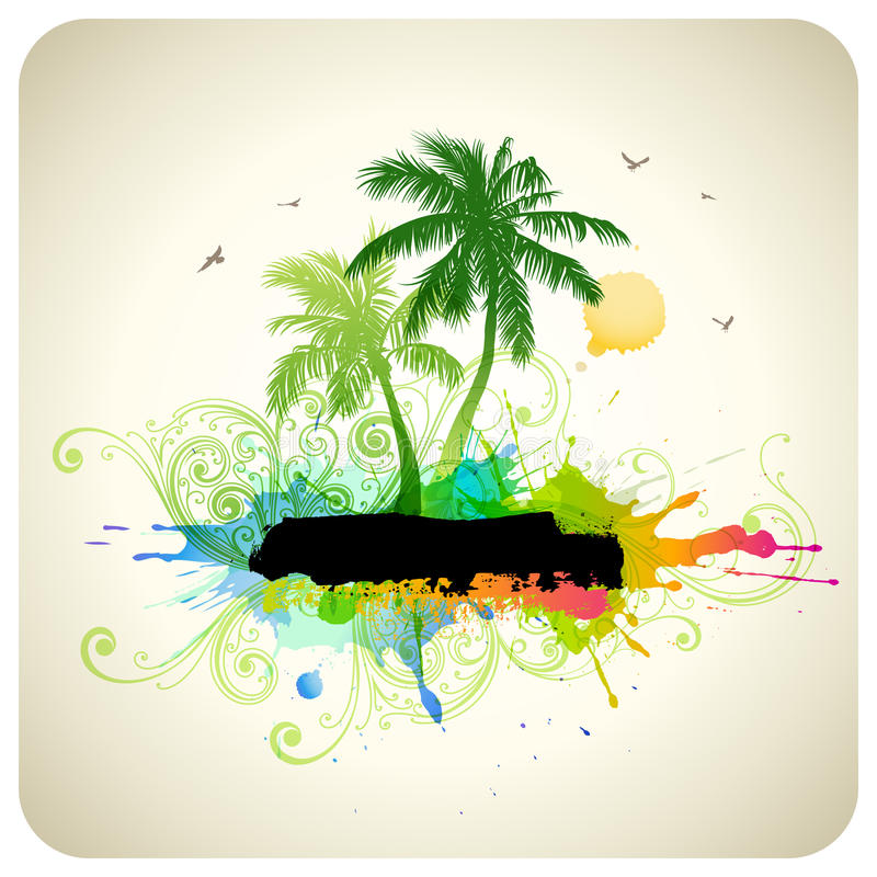 Tropical abstract background vector illustration