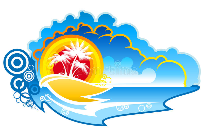 Tropical abstract background stock photo