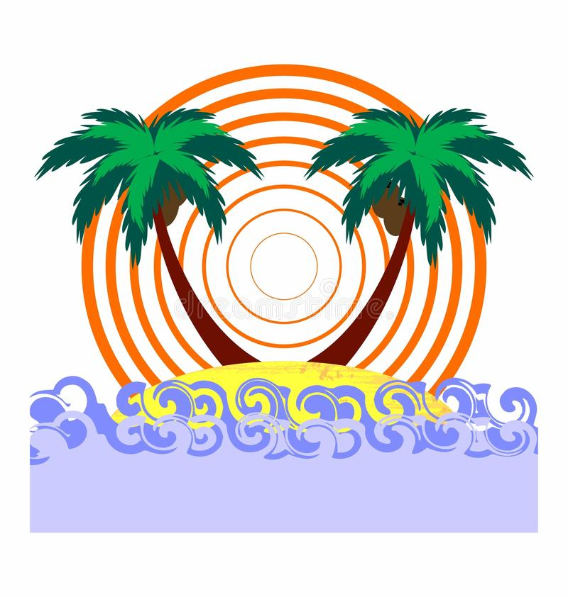 Tropical abstract background stock illustration