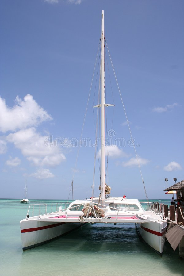 Download Tropical Aruba Sail Boat Royalty Free Stock Photography - Image: 1258617