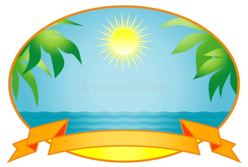 Tropical background. Vector Illustration royalty free illustration