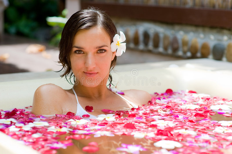 Tropical Bath royalty free stock photography