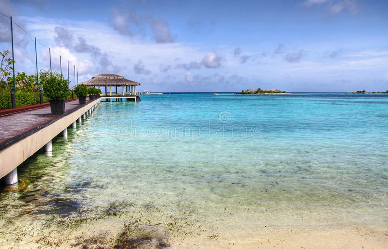 Tropical bay stock photography