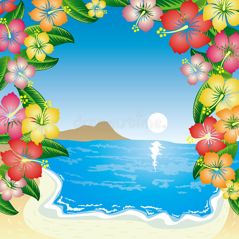 Tropical Beach. This graphic is Tropical Beach royalty free illustration