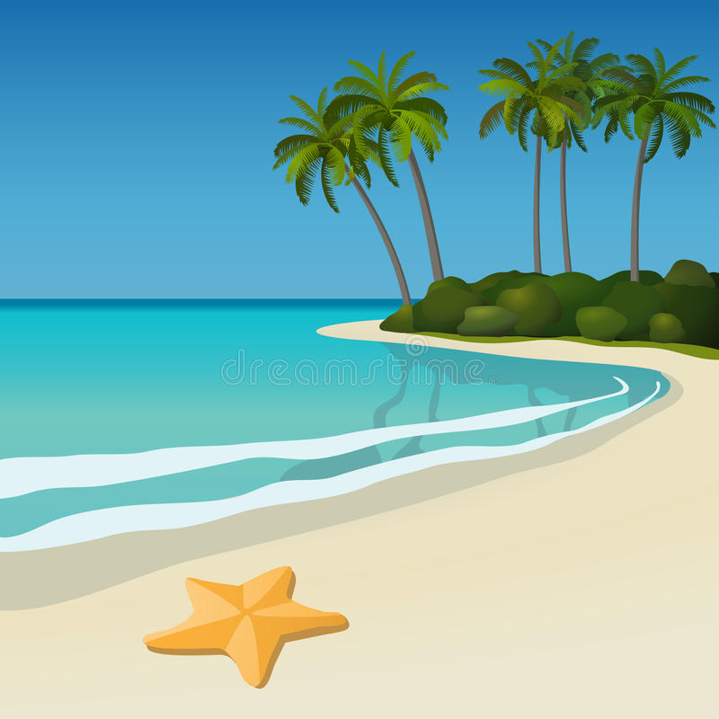 Download Tropical beach stock vector. Image of seascape, vacations - 13613925