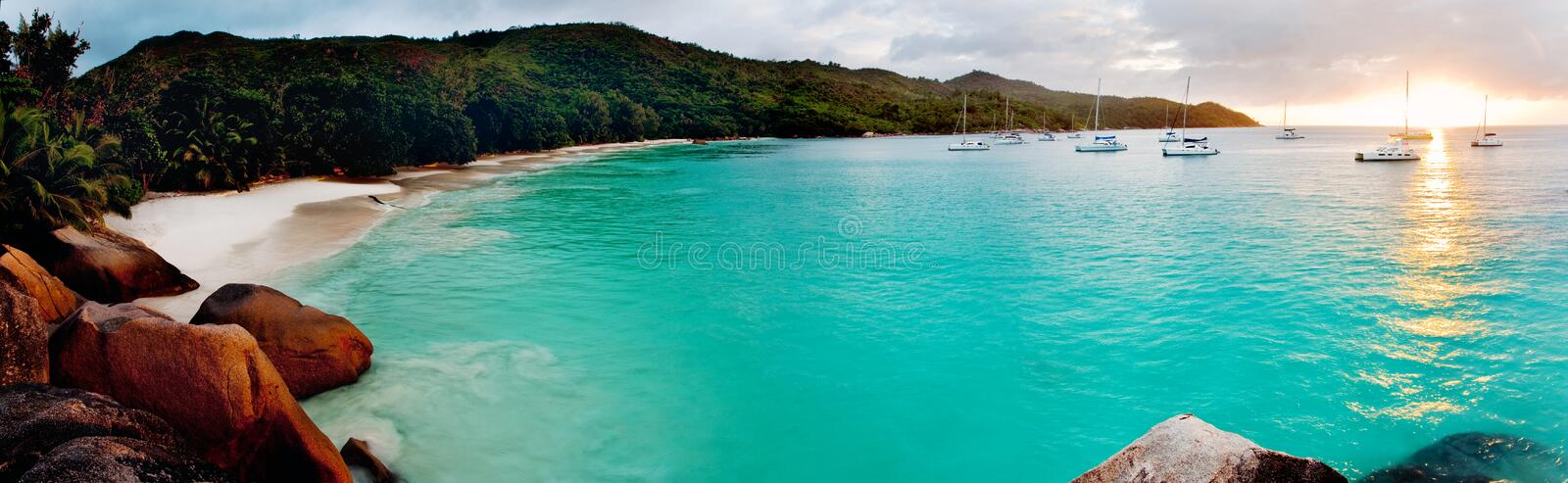 Download Tropical beach stock image. Image of brown, dawn, cloud - 15828483