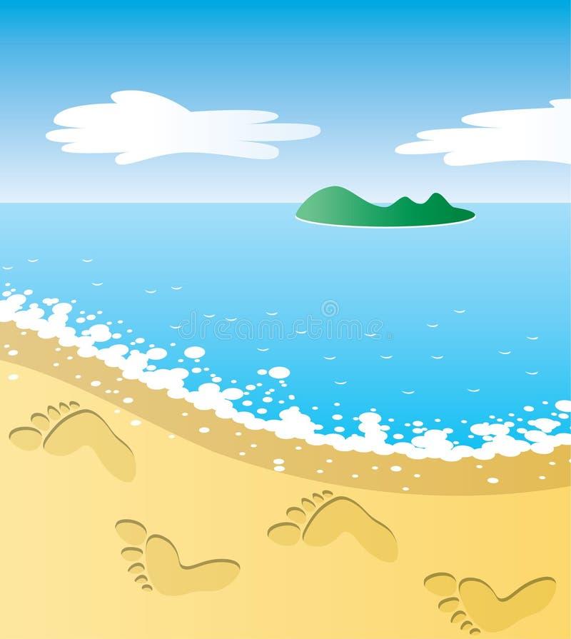Tropical beach royalty free illustration