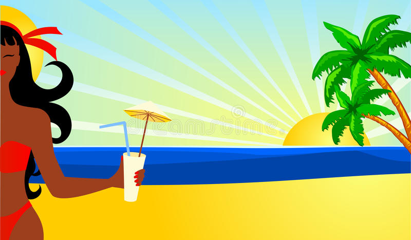 Download Tropical beach stock illustration. Image of tropics, swimsuit - 19550100