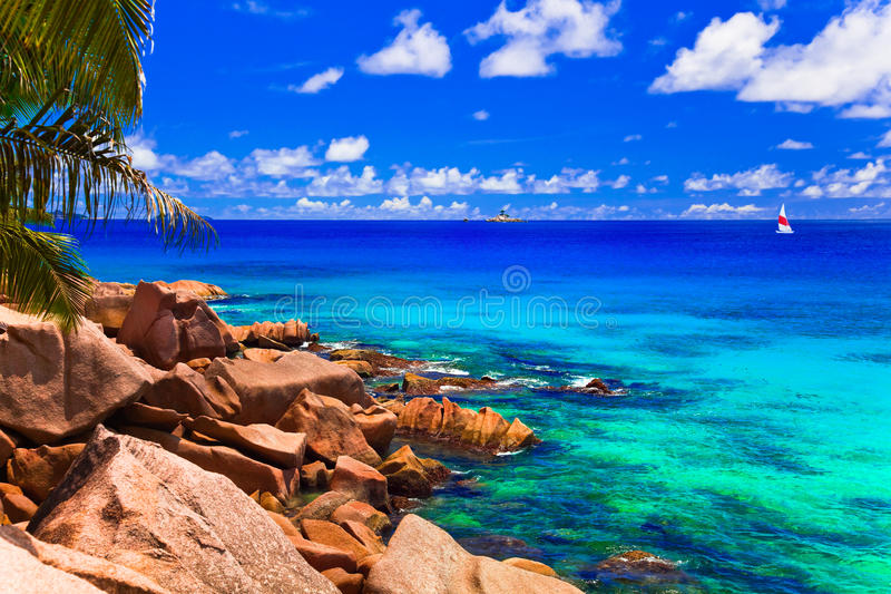 Download Tropical beach stock photo. Image of boat, relaxation - 19741450