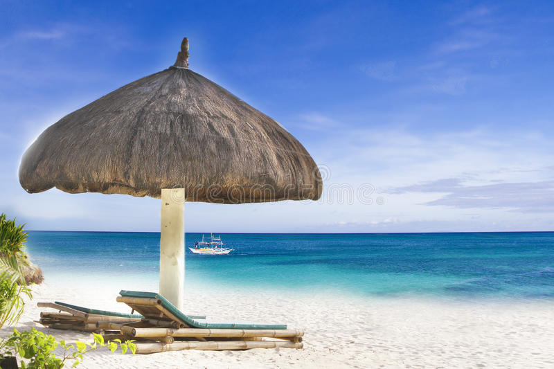 Download Tropical beach stock image. Image of philippines, chair - 28298483