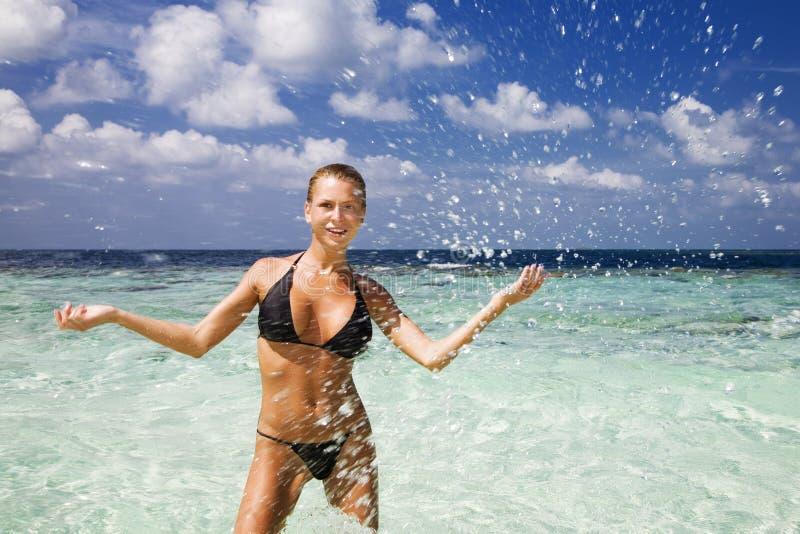 Download Tropical beach stock image. Image of bikini, resort, slim - 4152355