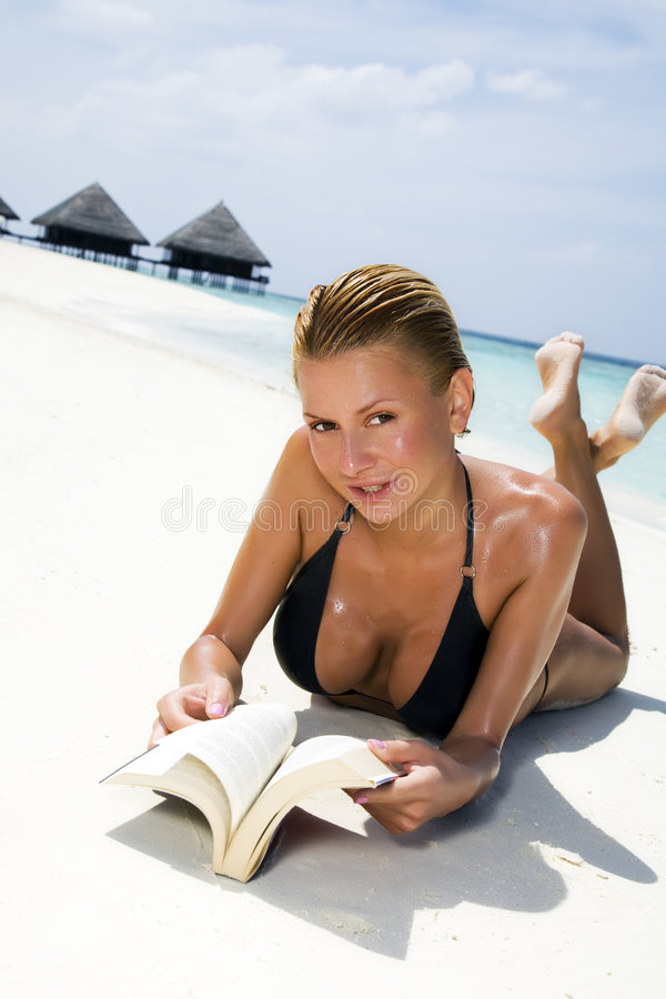 Download Tropical beach stock image. Image of bikini, care, caucasian - 4178937